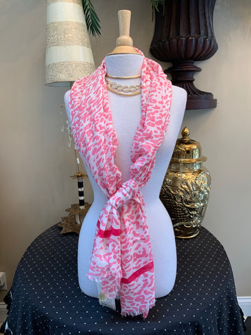 Spring Leopard Print Scarf