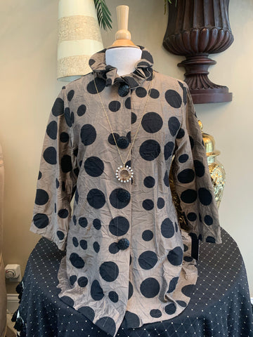 Taupe Polka Dot Jacket