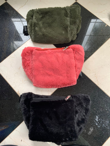 Faux Fur Fanny Pack / Hand Warmer