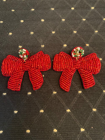 Beaded Bow Earring