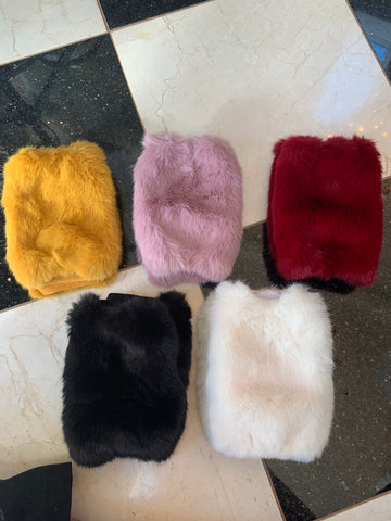 Faux Fur Hand Warmers