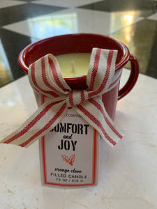 Orange Clove Mug Candle