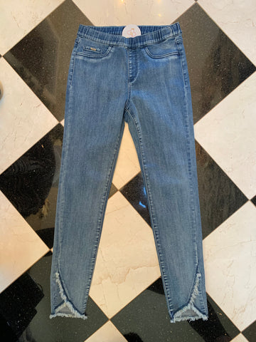 Pull On Slim Ankle Denim