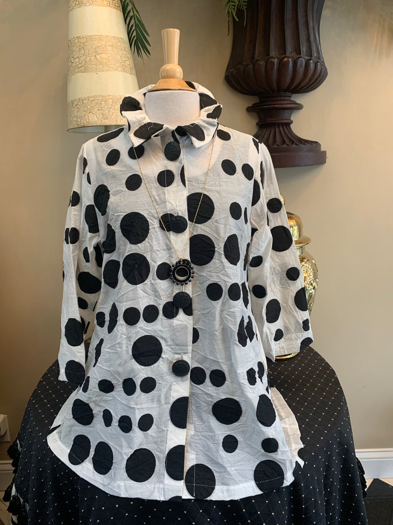 Black & White Polka Dot Jacket