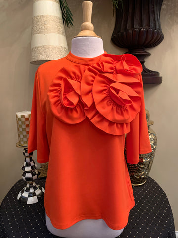 Orange Flower Top