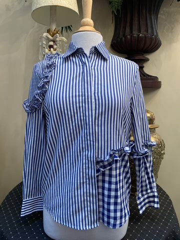 Royal Blue Stripe & Gingham