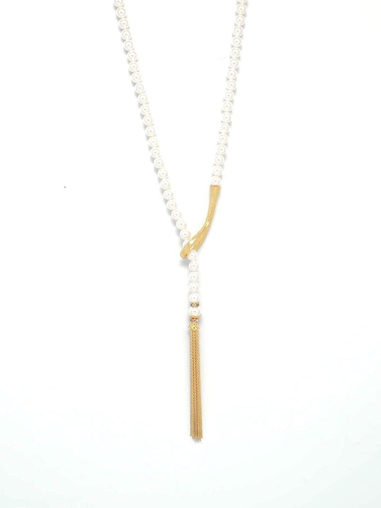 Tassel & Pearl Necklace