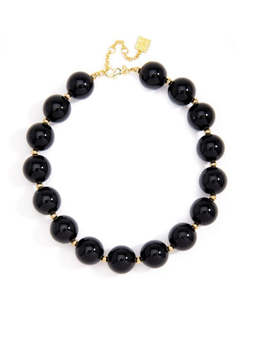 Black Oversized Pearl Collar Necklace