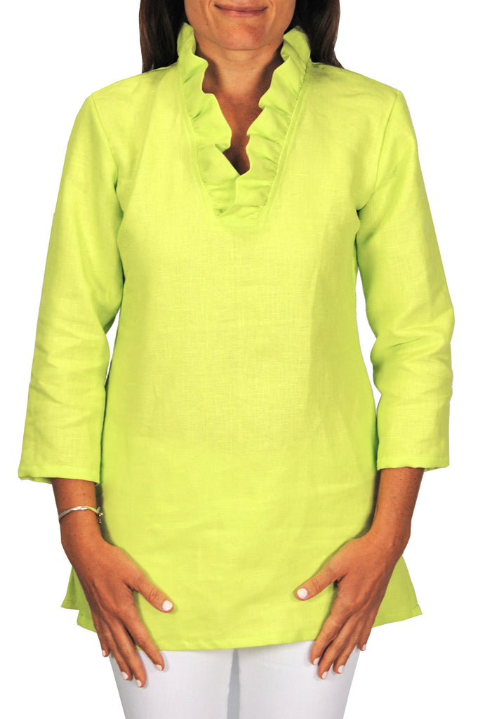 Parker Tunic Linen-Lime Green