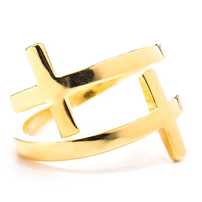 Pillar of Faith Ring-Gold