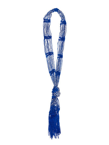 Cobalt Scarf Necklace
