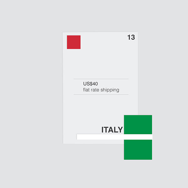 flat shipping rate to italy