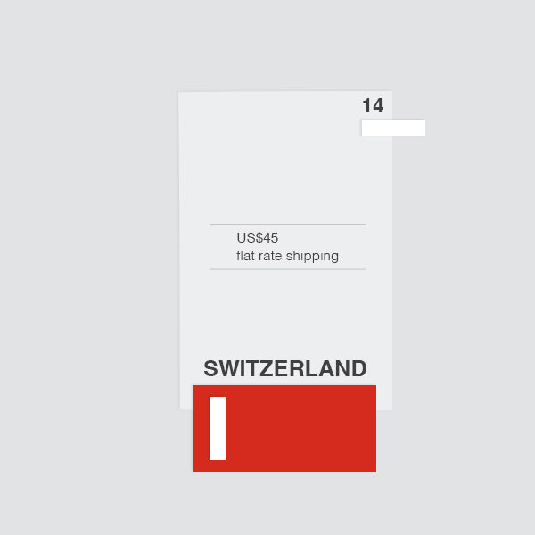 flat shipping rate to switzerland