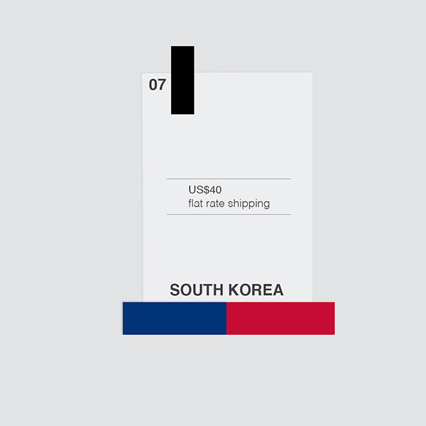 flat shipping rate to south korea