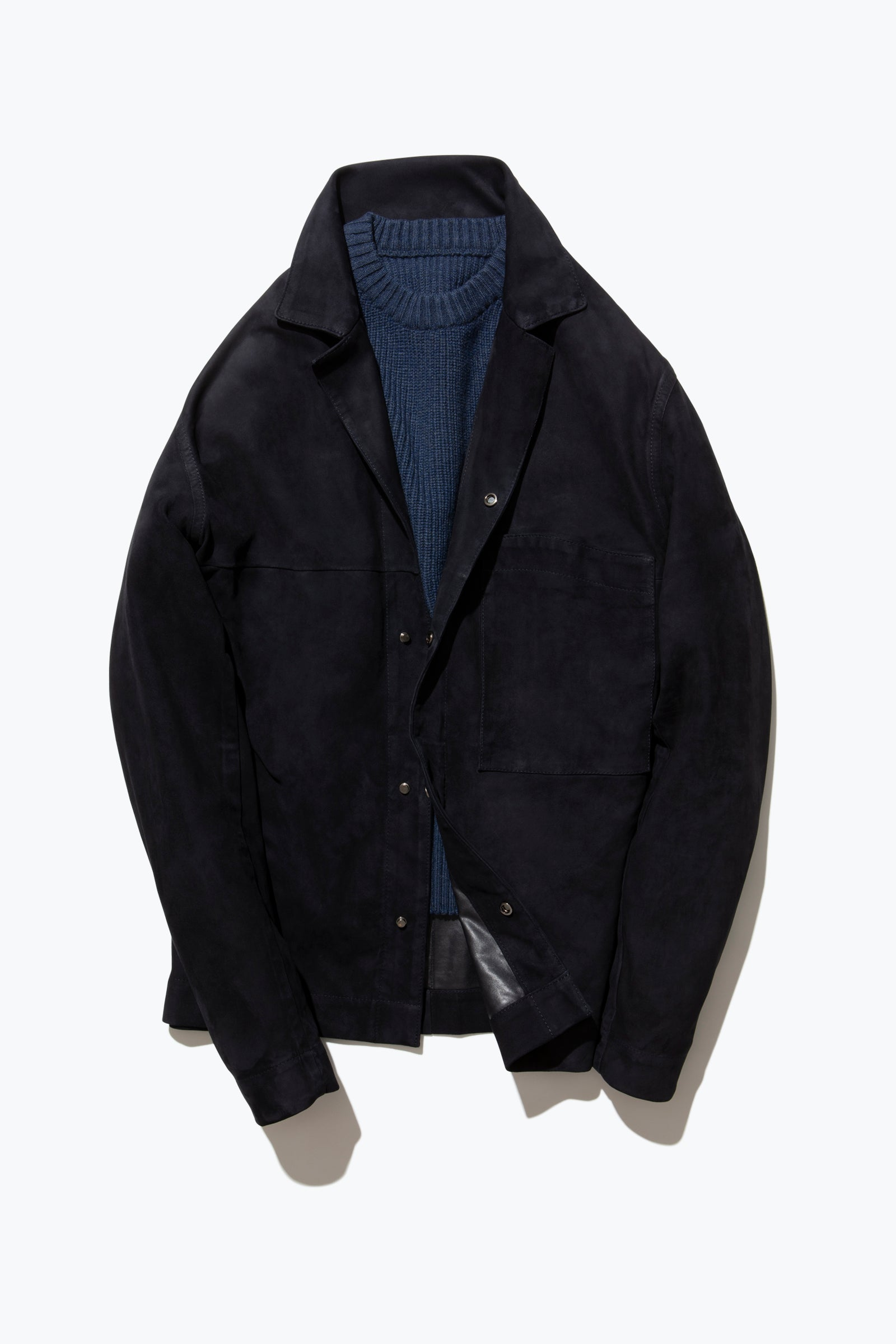 Edition 001 - Suede Overshirt (Navy)