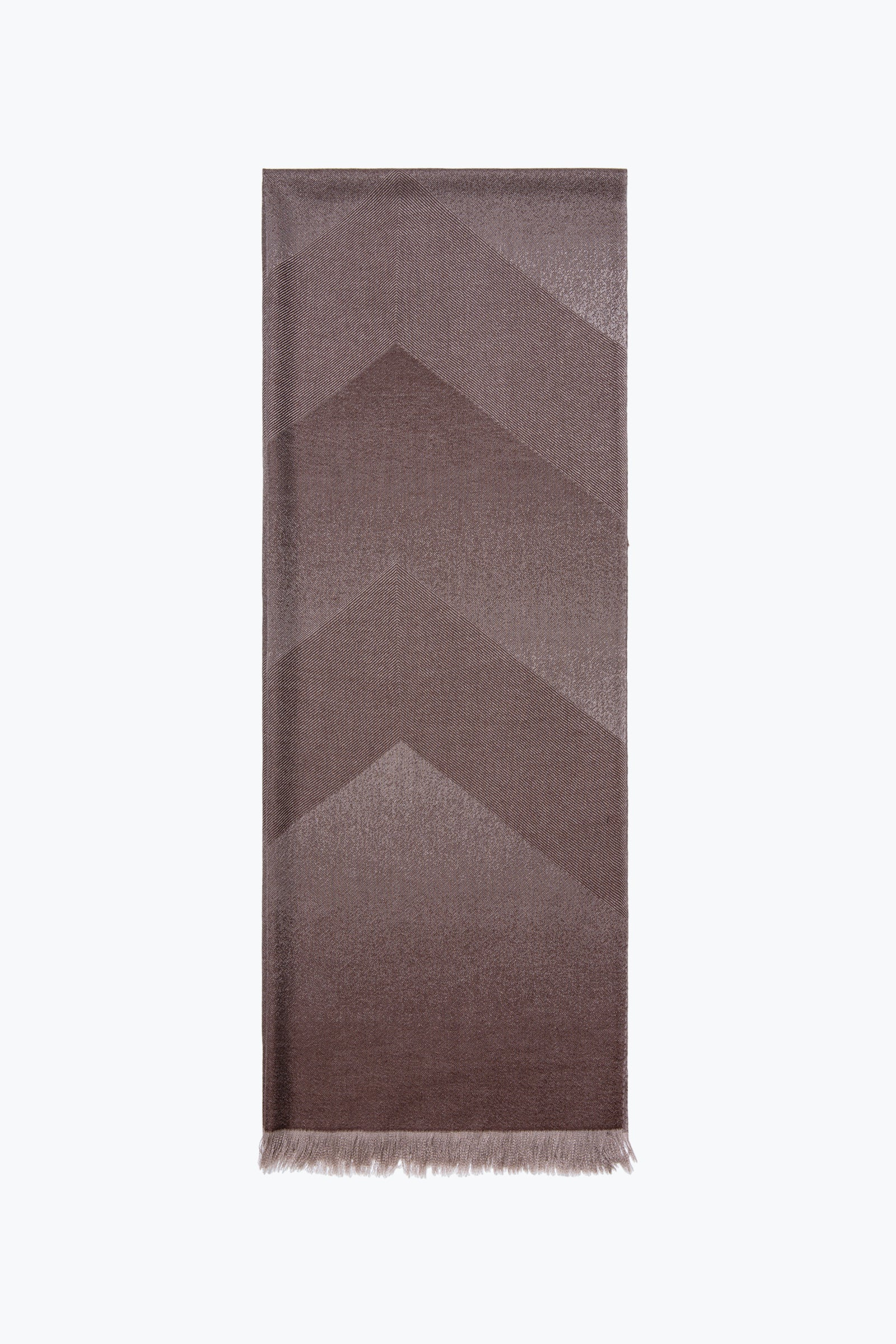 woven large scarf - fading chevrons (chocolate)