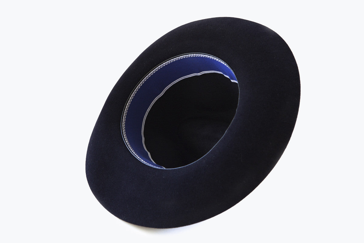 Hat - Rabbit Felt Rollable (Navy)