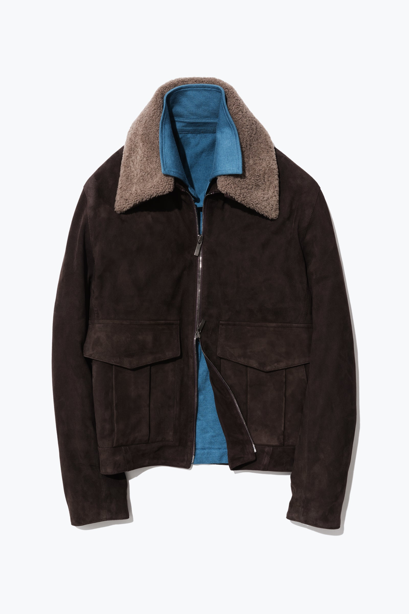MTO Outerwear - 002 - Suede Flight Jacket (Chocolate)