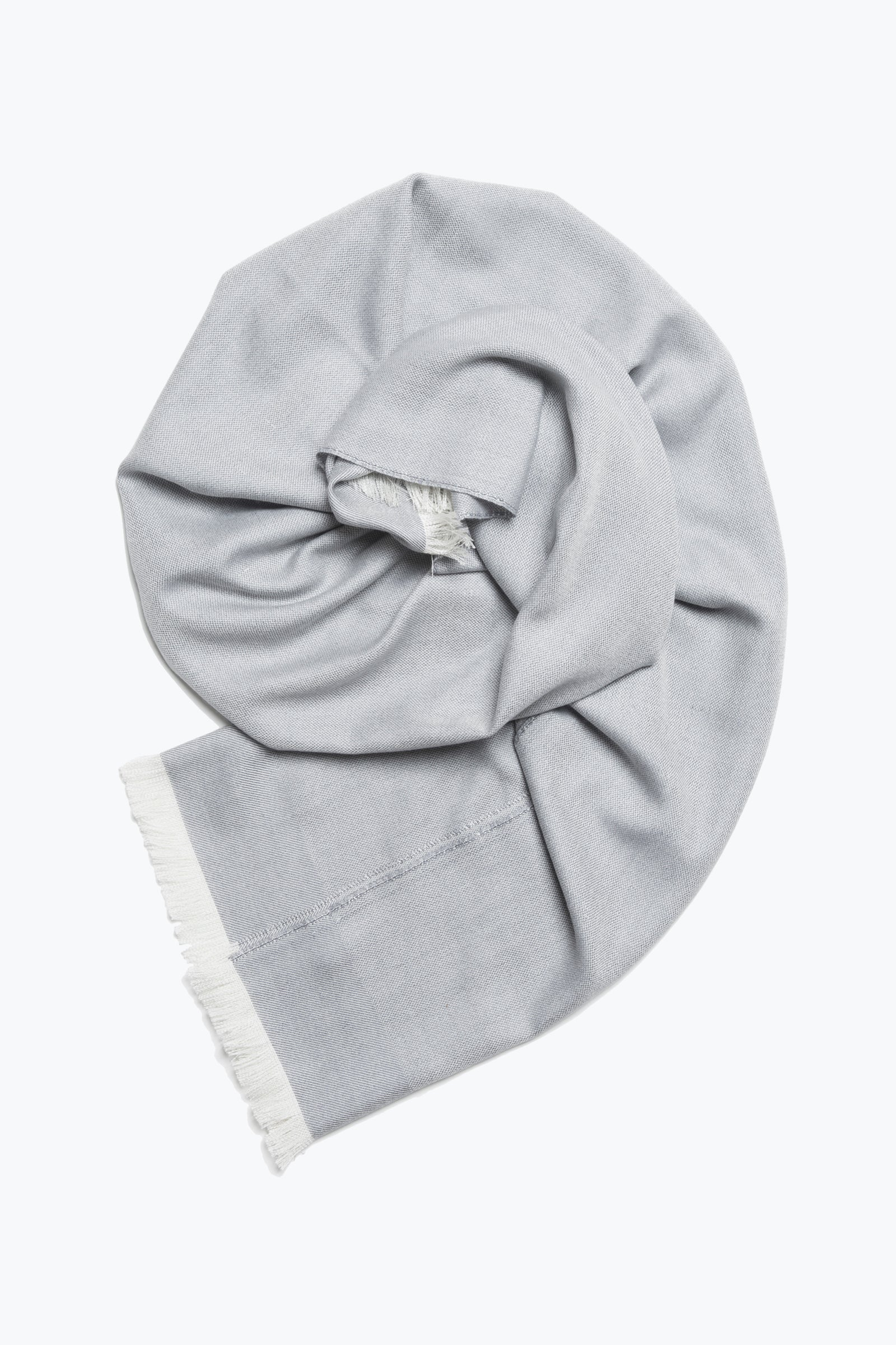 woven shawl scarf - solid with border (slate)