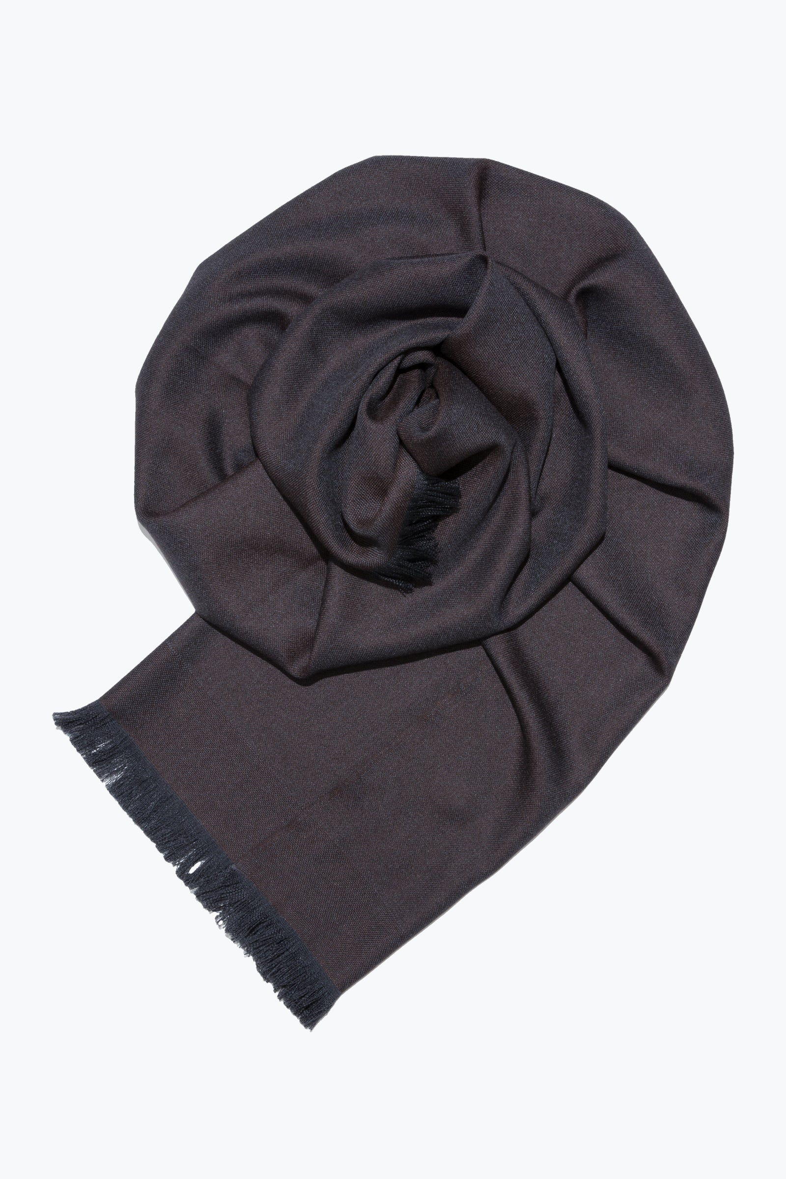woven shawl scarf - solid with border (chocolate)
