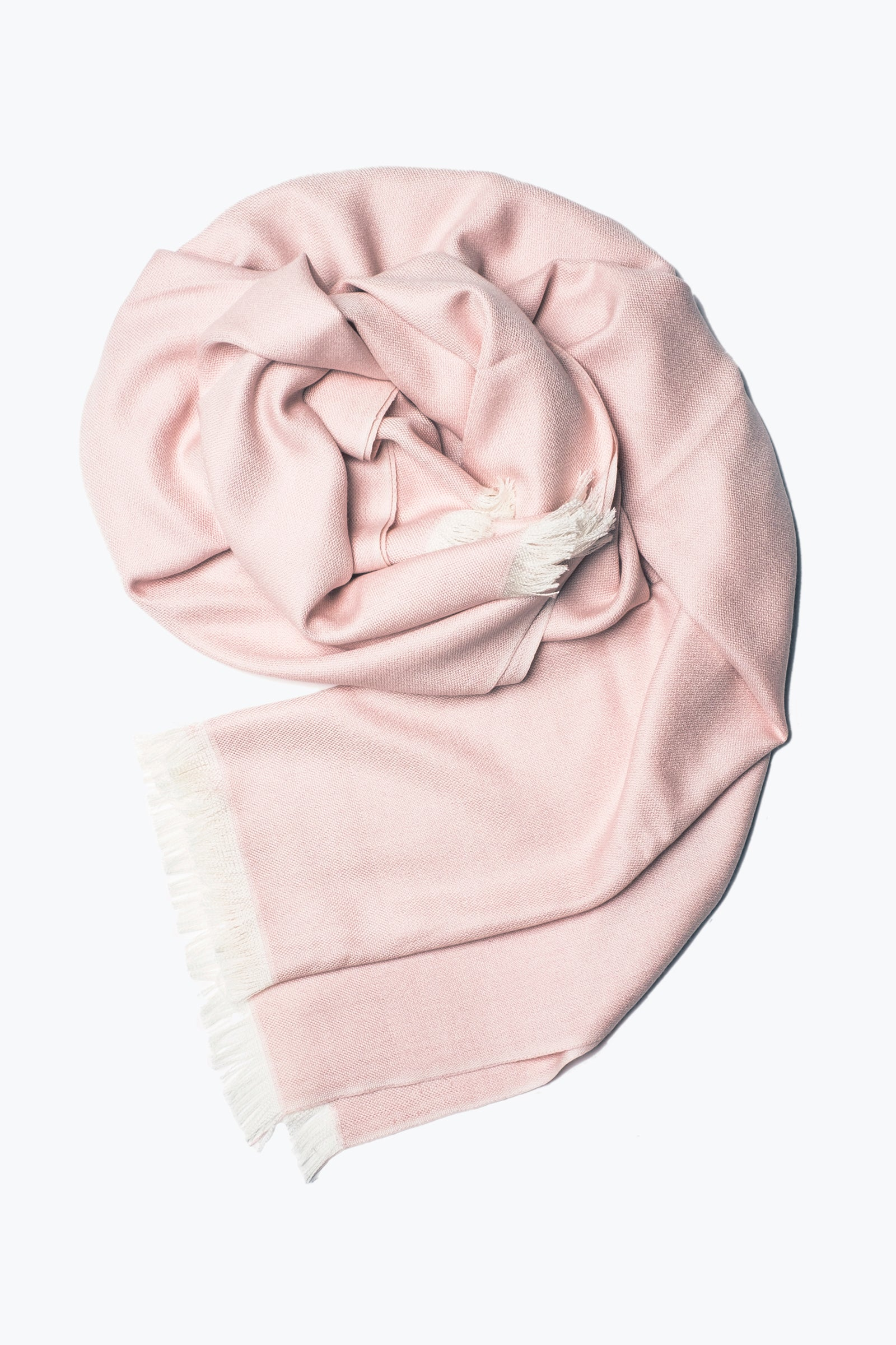 woven shawl scarf - solid with border (rose)
