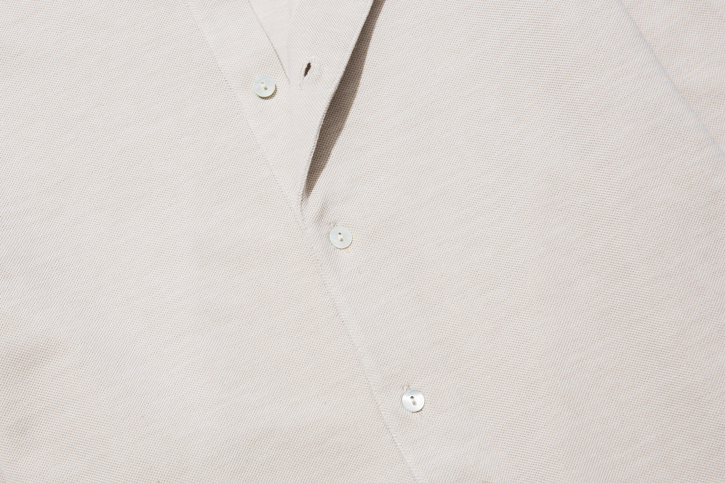 Knitwear - Spread Collar Shirt (Sand)
