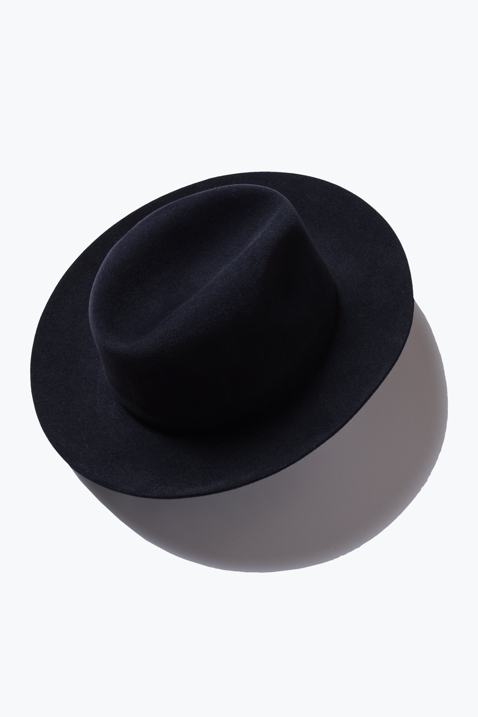 hat - beaver felt rollable (navy)