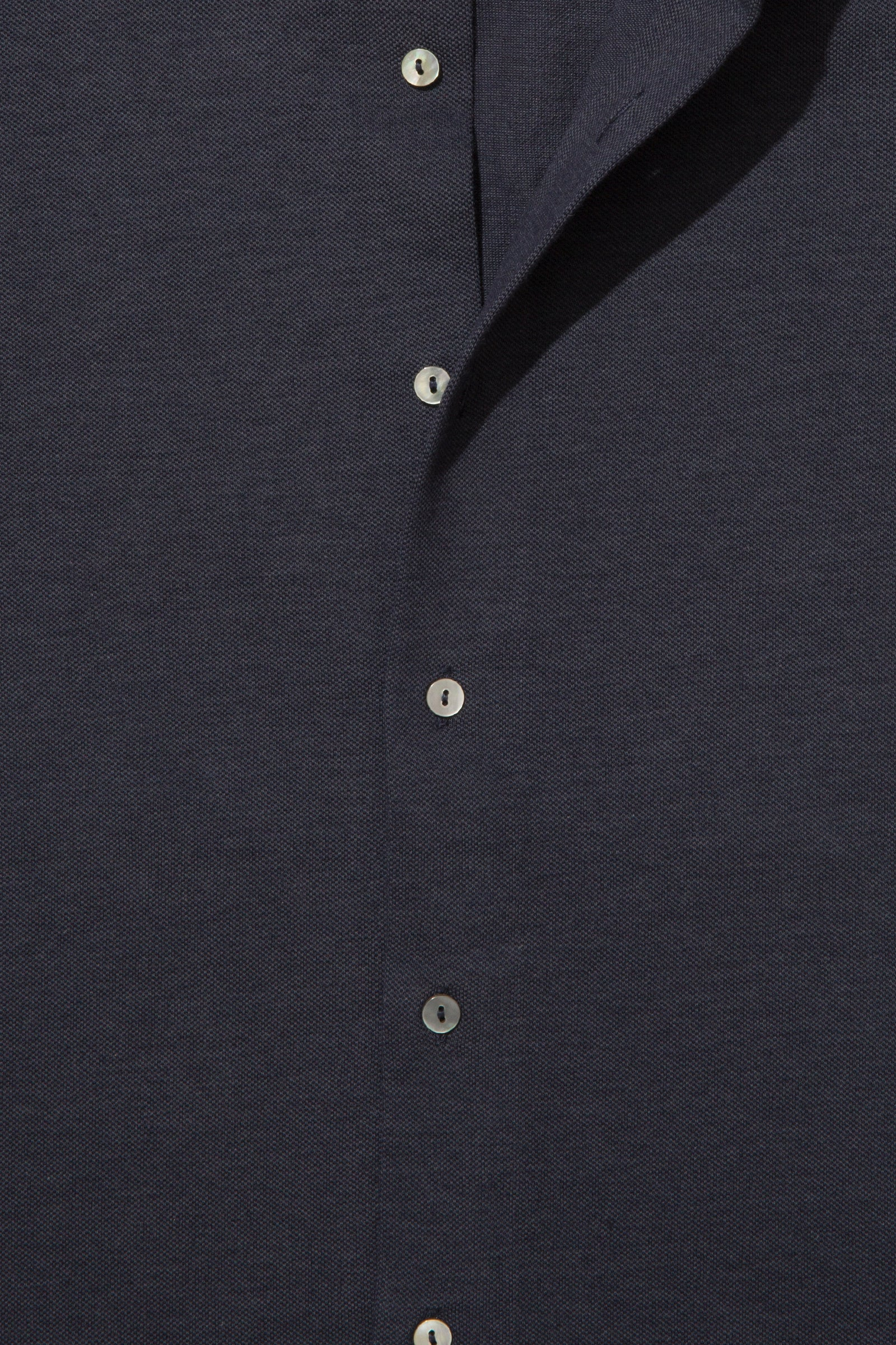 Knitwear - Spread Collar Shirt (Dark Indigo)