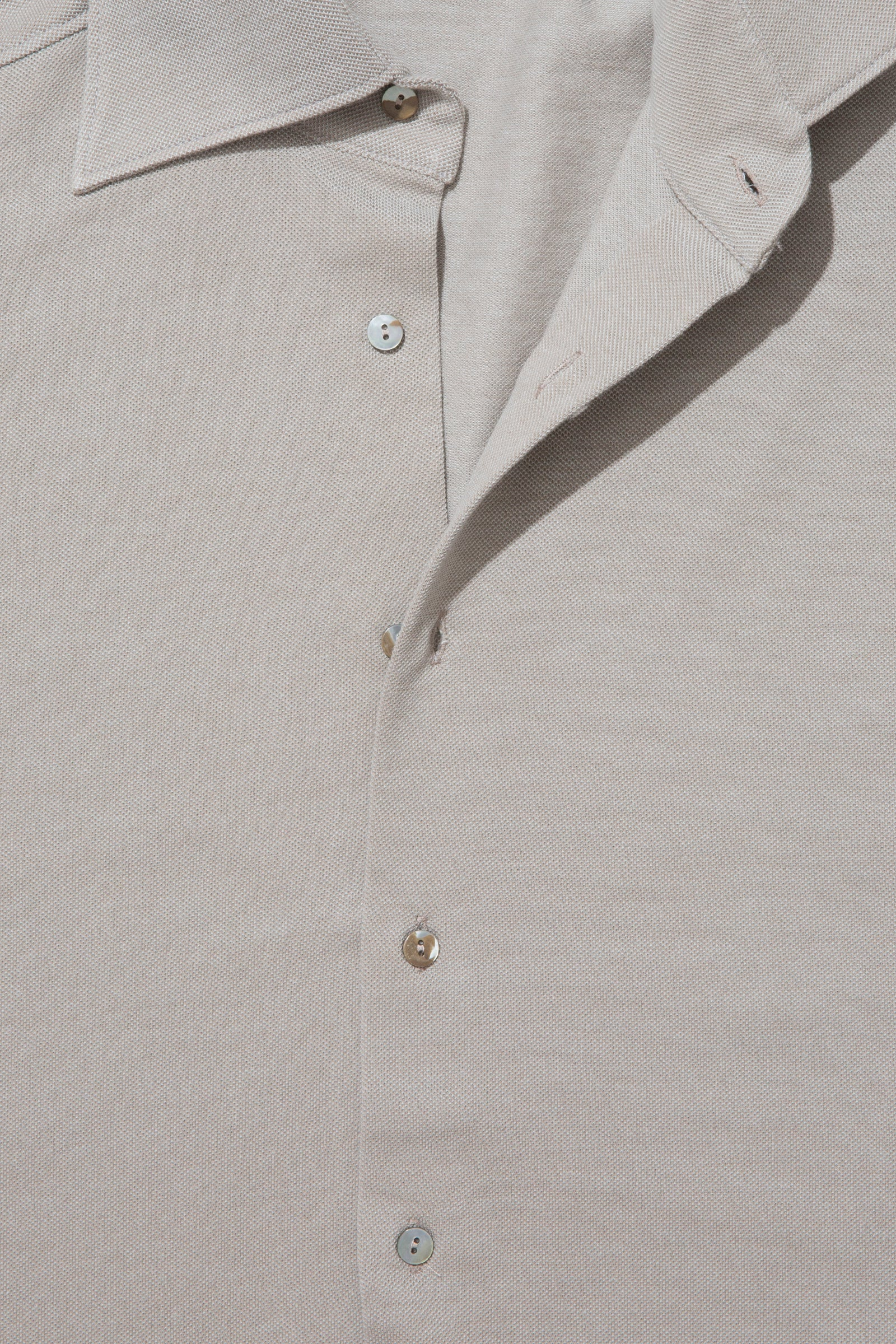 Knitwear - Spread Collar Shirt (Taupe)