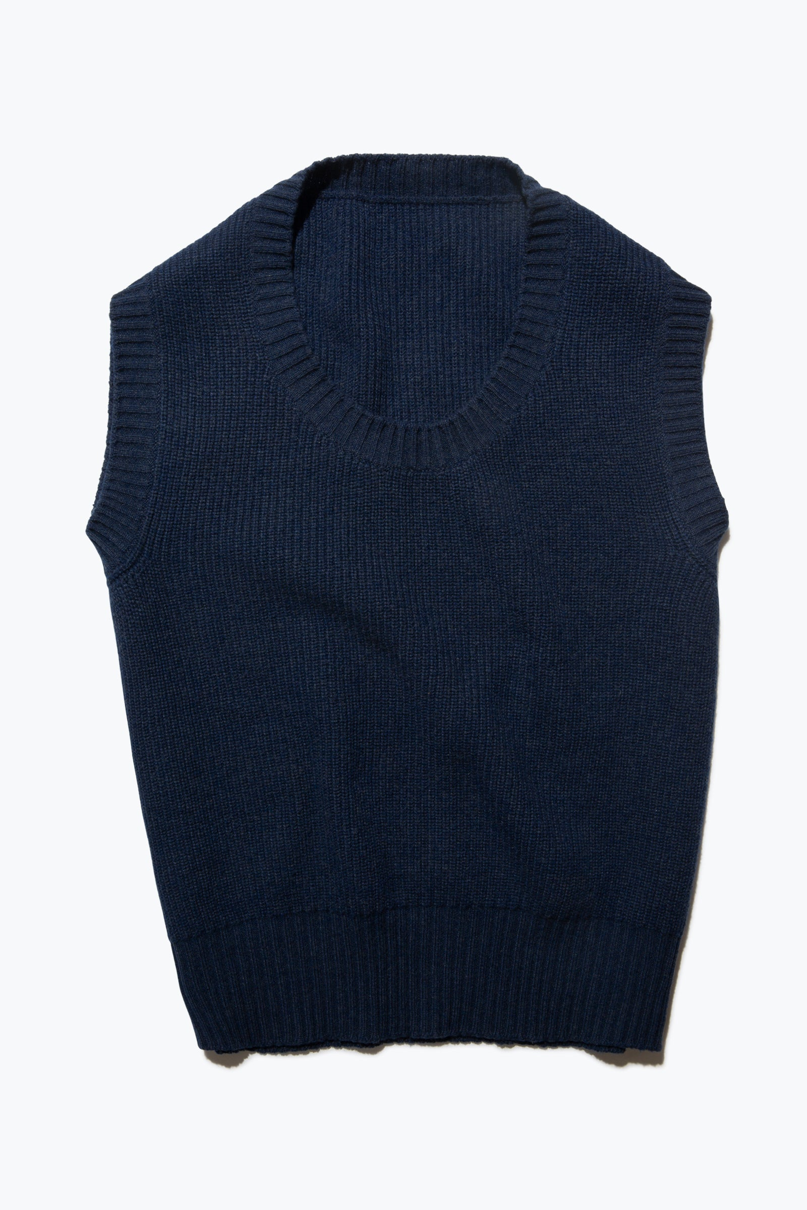 Sweaters - U-Neck Vest (Dark Indigo)