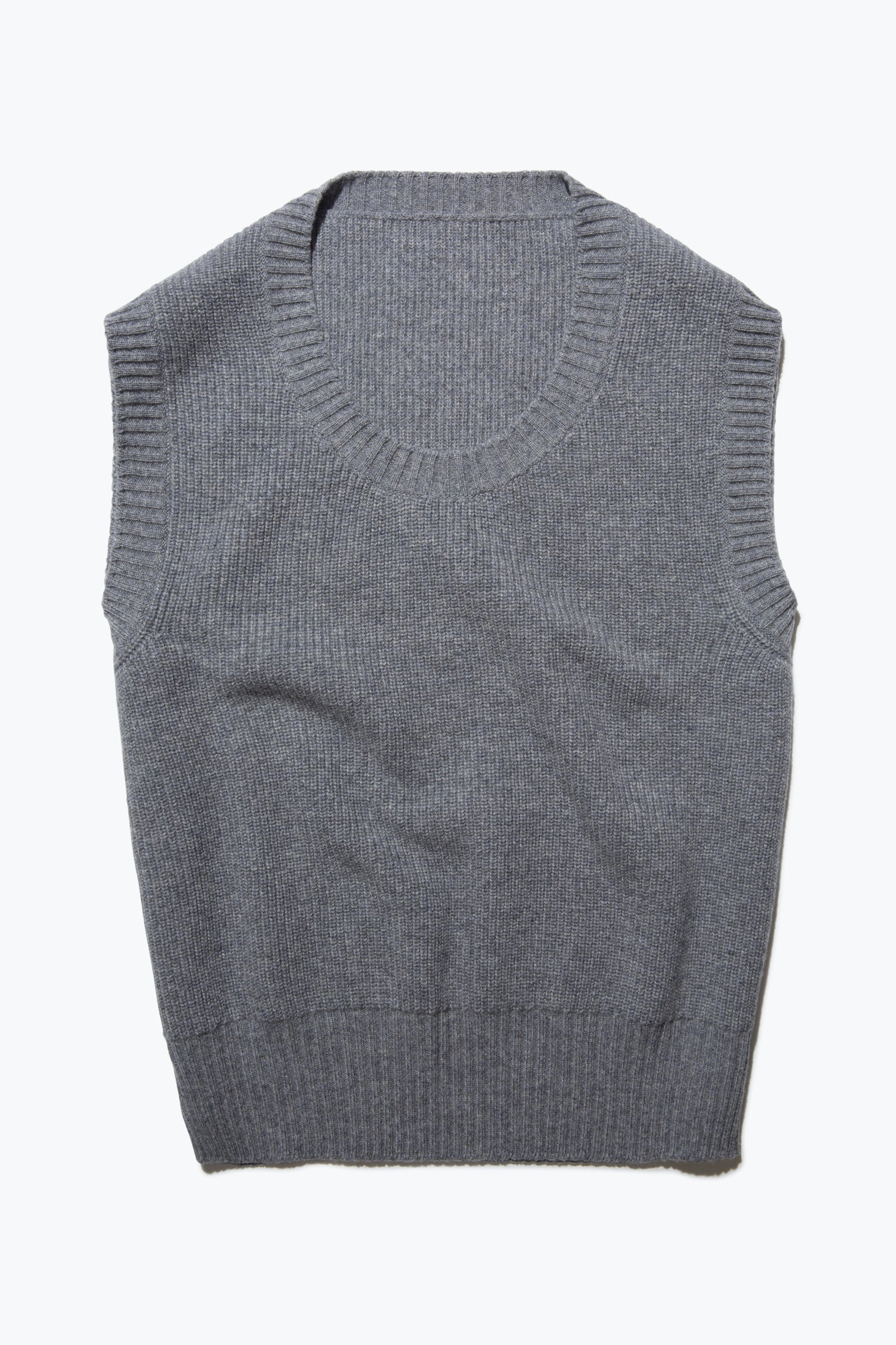 Sweaters - U-Neck Vest (Steel Grey)