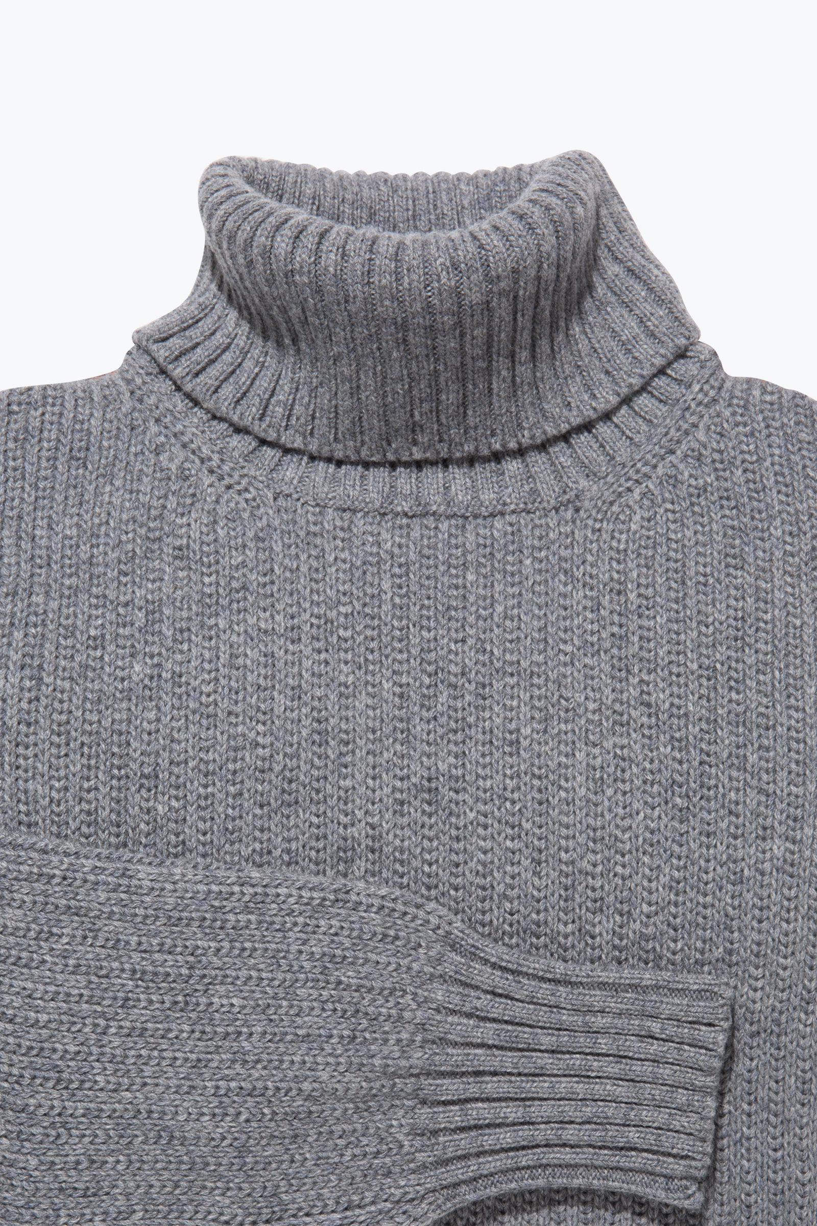 Sweaters - Roll Neck (Steel Grey)