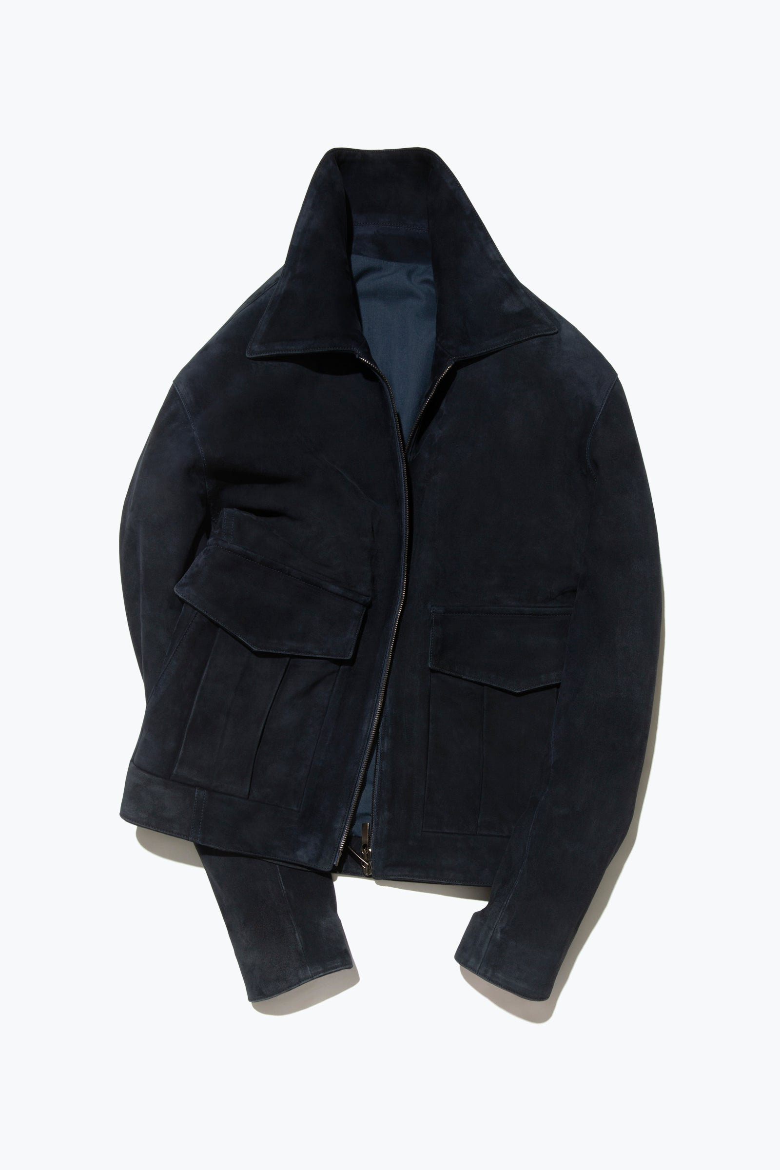 MTO Outerwear - 002 - Suede Flight Jacket (Navy)