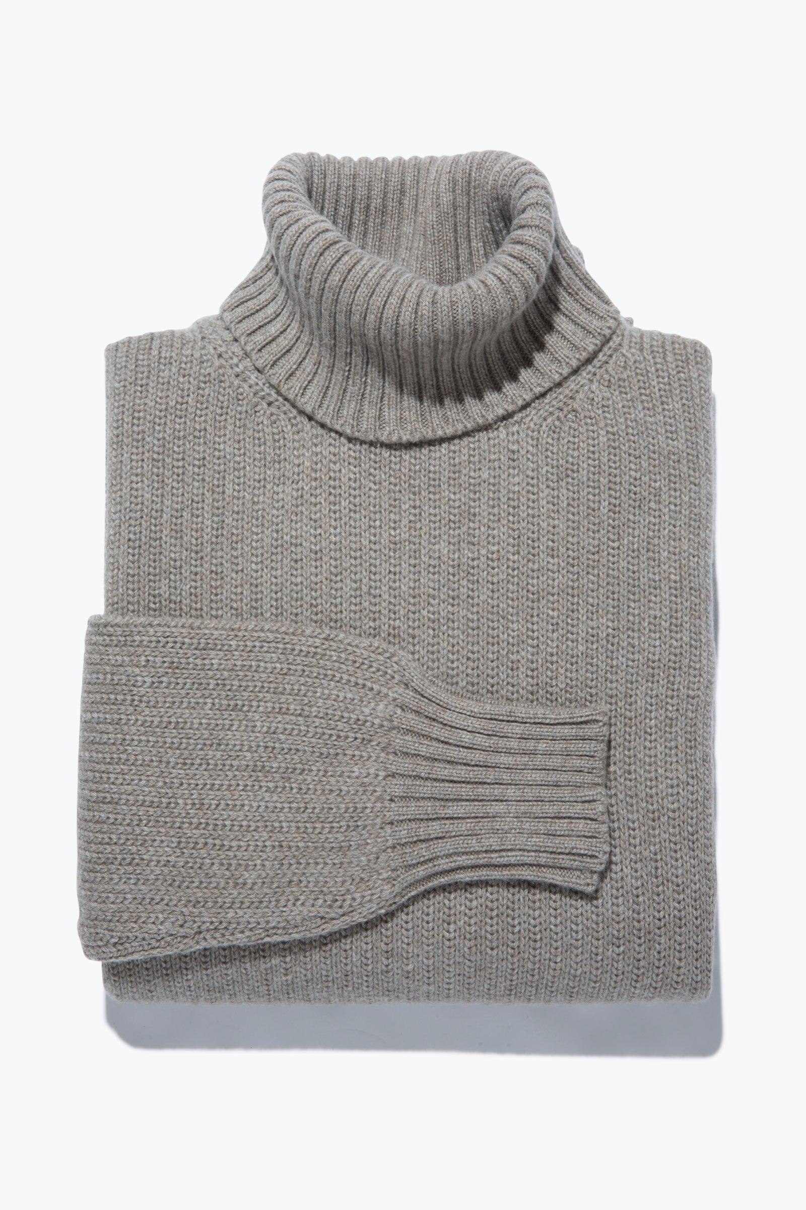 Sweaters - Roll Neck (Taupe)