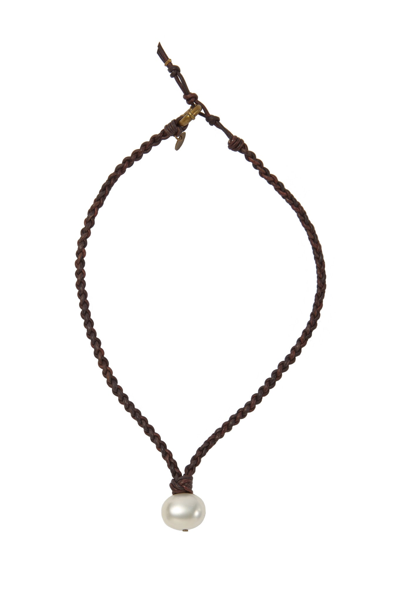 North Sound ( Signature) Leather and Pearl Necklace