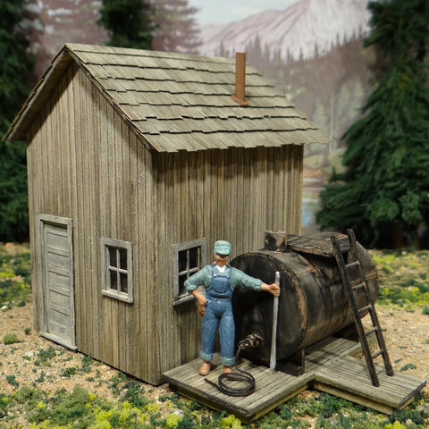 O Scale On30 On3 - Lucifer Mine Oil Depot Shed
