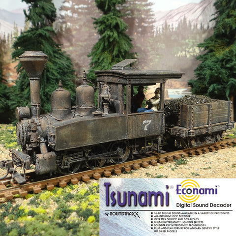 On30 Scale 0-6-0 Porter #7 Coal Tender Tsunami Sound