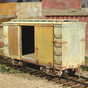 On30 Scale 18 Foot Shorty Distressed Box Car