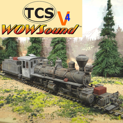 On30 2-6-6-2 Locomotive #17 TCS Wow Sound Version 4 with Keep Alive
