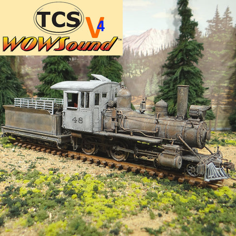 On30 Scale 4-4-0 #48 TCS Wow Sound V4 Coal Tender