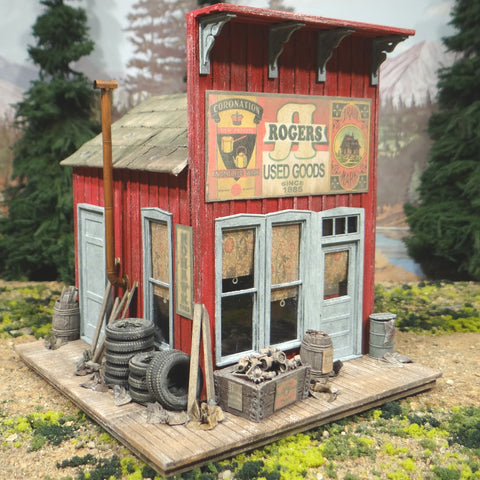 O Scale On30 On3 Rogers Used Goods Store Building