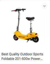 Sports Foldable 201-500w Power Electric Motorcycle Scooter for Adult