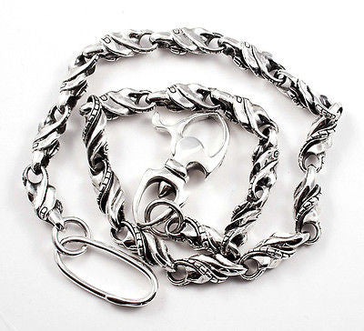 WALLET CHAIN STERLING SILVER 925 WAVE LINK