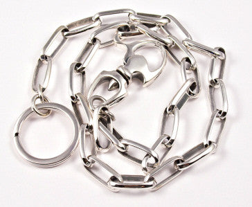 WALLET CHAIN STERLING SILVER 925 XL CABLE LINK