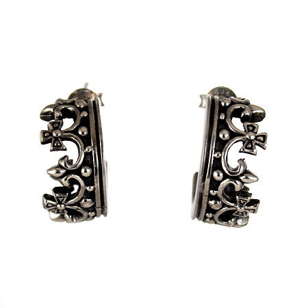 CROWN EARRINGS STERLING SILVER 925