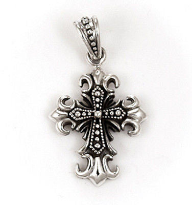 FLORAL CROSS PENDANT STERLING SILVER 925