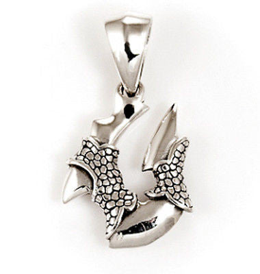 FISHHOOK CLAW STERLING SILVER 925 PENDANT