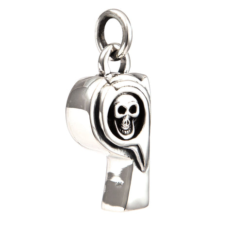 WHISTLE SKULL STERLING SILVER 925 PENDANT