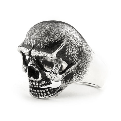 3-DIMENTIONAL SKULL RING OXIDIZED STERLING SILVER 925