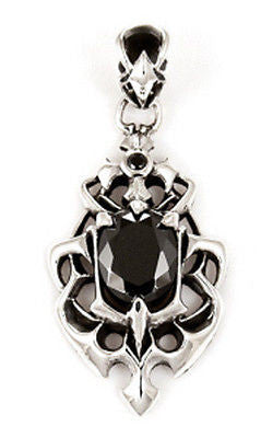BLACK ONYX CLAWS PENDANT STERLING SILVER 925